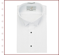 White Tuxedo Shirt on Sale